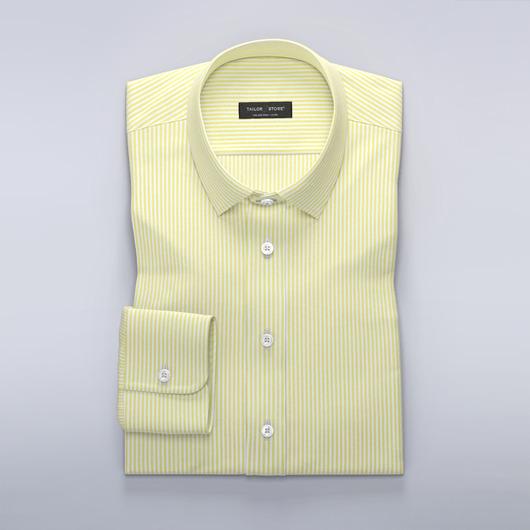 Stripete dresskjortegul/hvit