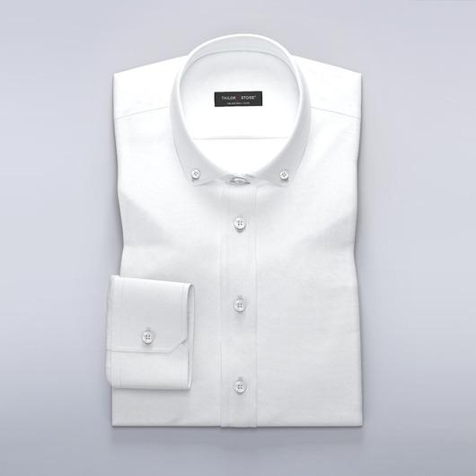 Women's dress shirt in white stonewashed Oxford