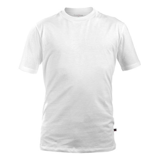 Vit rundhalsad T-shirt i bomull, 2-pack