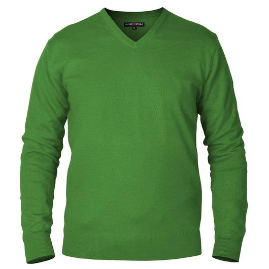 Pembroke - Green V-Neck Pima Cotton Sweater