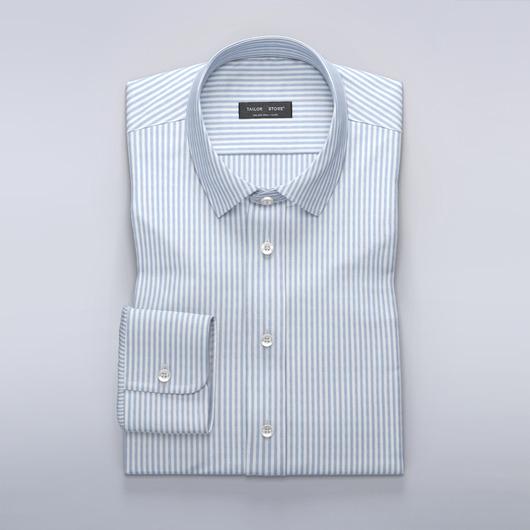 White/Blue striped Oxford shirt