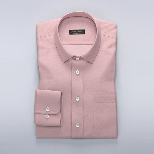 Lichtrood Oxford overhemd