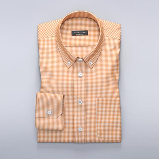 Chemise à carreaux en blanc et orange
