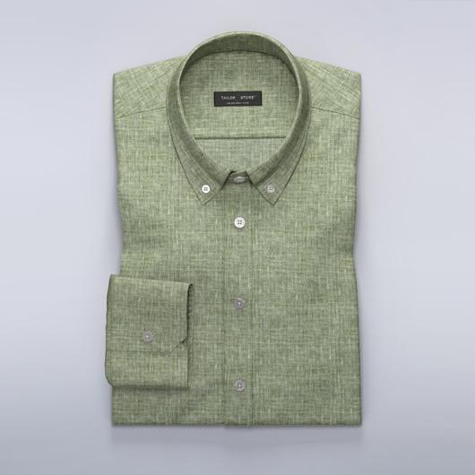 Groen linnen overhemd