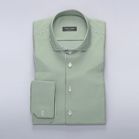 Dark green/White striped shirt