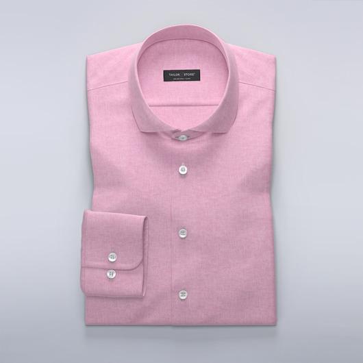 Chemise rose clair en lin/coton