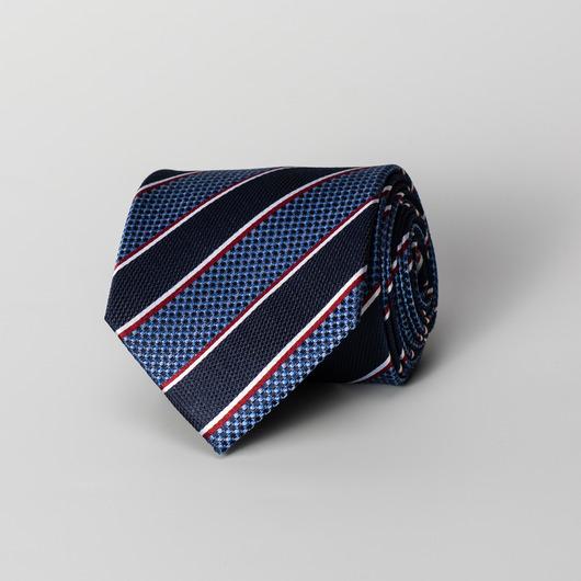 Blått stripete silkeslips