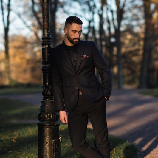 Dress shirt in dark navy