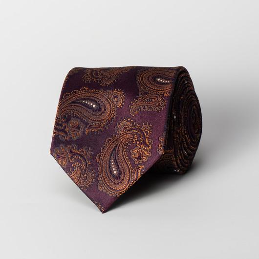 Blommefarvet paisley silke slips