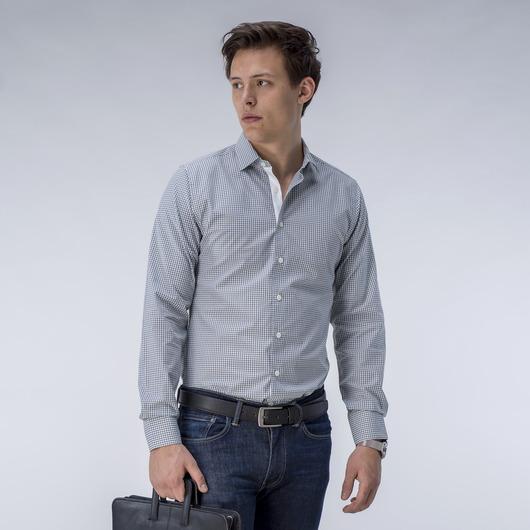 Ljusgrå rutig skjorta