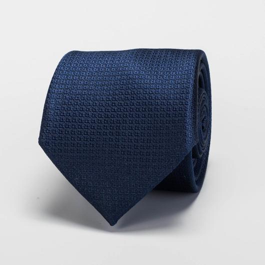 Cravate bleue marine en soie