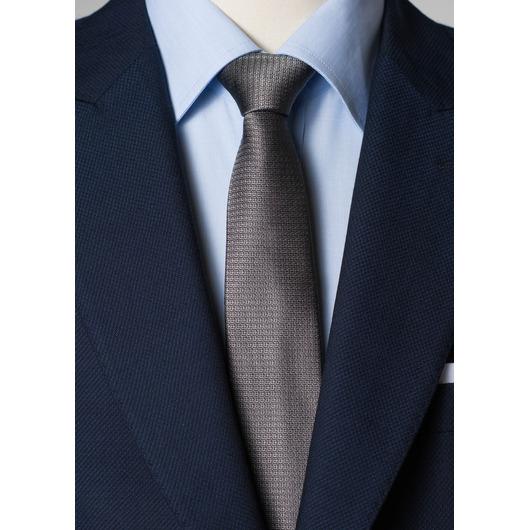 Szary krawat jedwabny