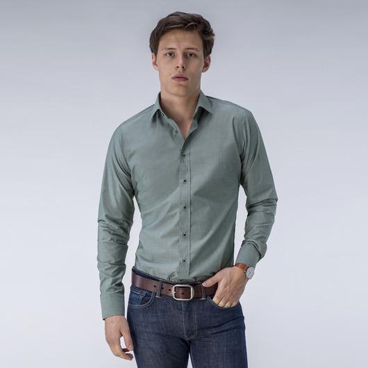 Dunkelgrünes Hemd