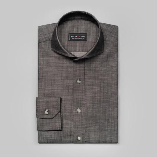 Black chambray shirt