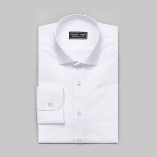 Wit katoenen overhemd met stretch