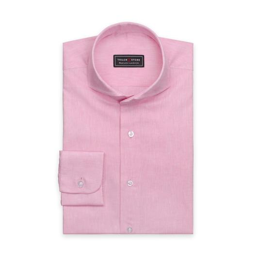 Lys pink skjorte i bomuld/hør.