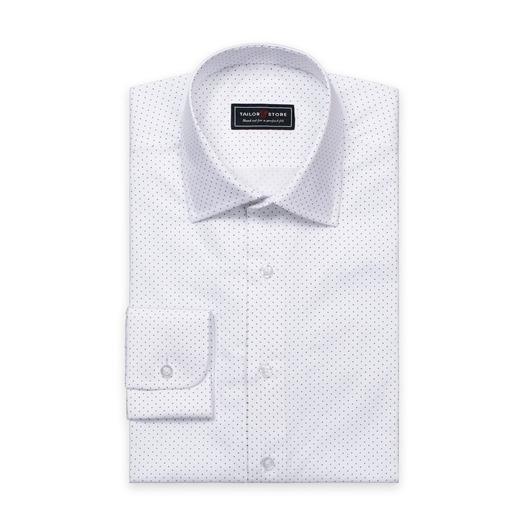 Chemise en popeline à pois Blanc/Navy