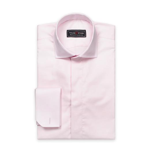 Ljusrosa skjorta i bomullssatäng