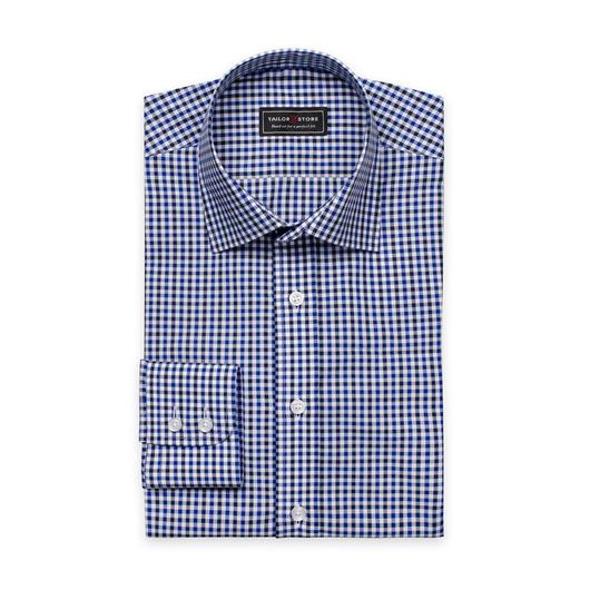 Koszula w biało-granatowo-niebieską kratkę