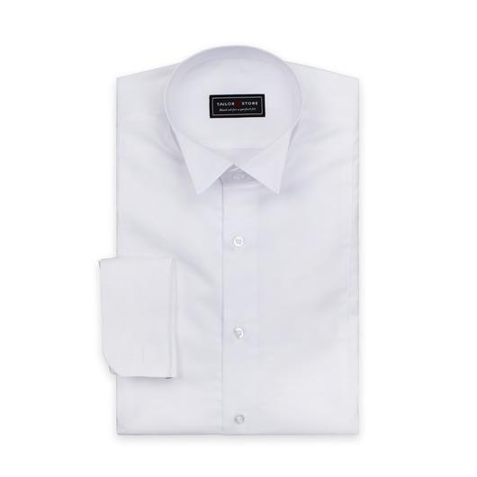 Biała koszula frakowa z kołnierzem z załamanymi rogami