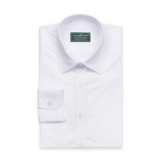 Ekologisk vit affärsskjorta