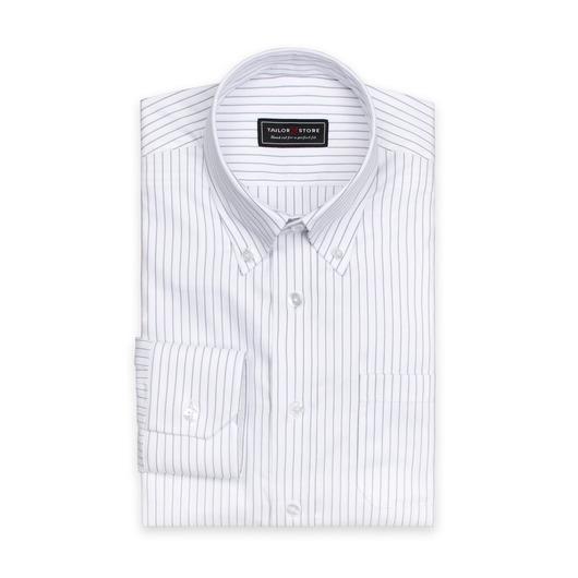 Vit/svartrandig skjorta i ekologisk bomull