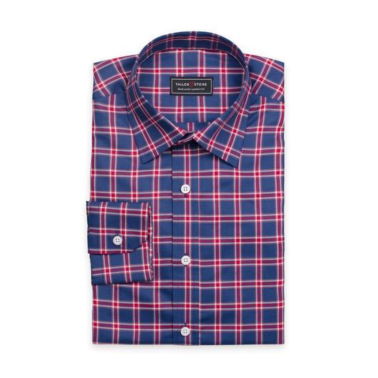 Rutig skjorta med navy bakgrund