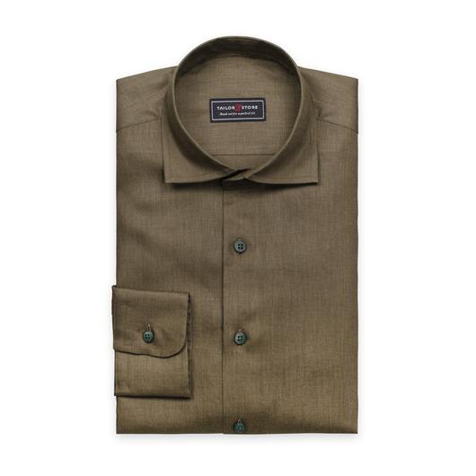 Linneskjorta i militärgrönt