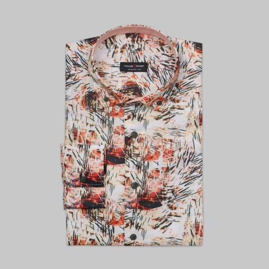 Limited edition, multi colour linen dress shirt