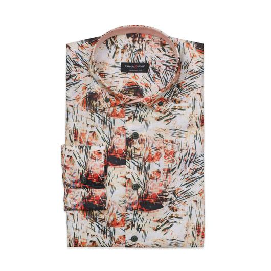 Limited edition, flerfarget dresskjorte i lin