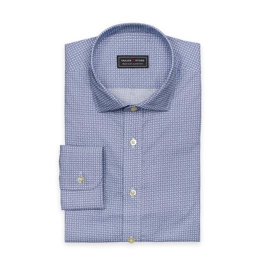 Blue/white printed cotton shirt