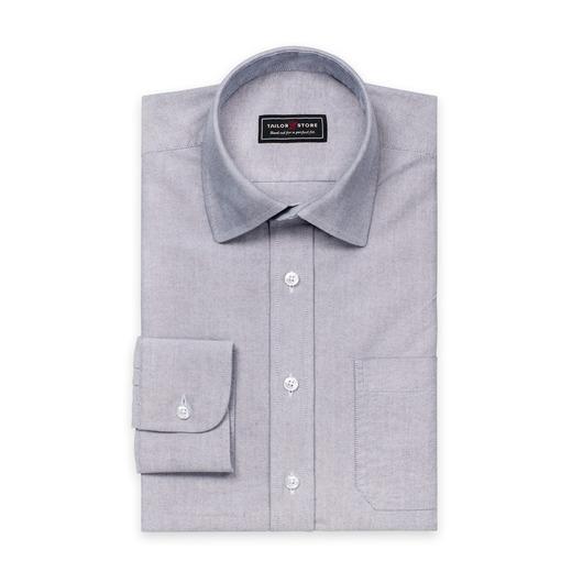 Graues Oxford-Hemd