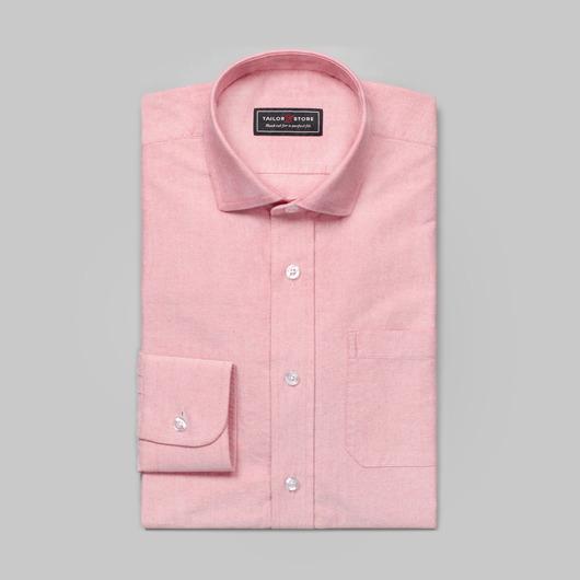 Ljusröd oxfordskjorta
