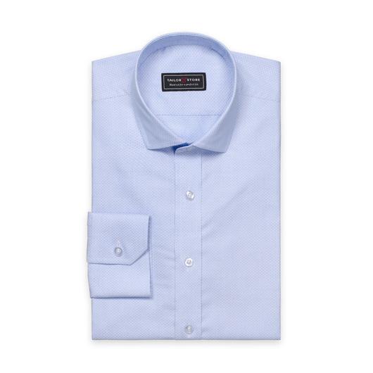 Ljusblå slim fit skjorta