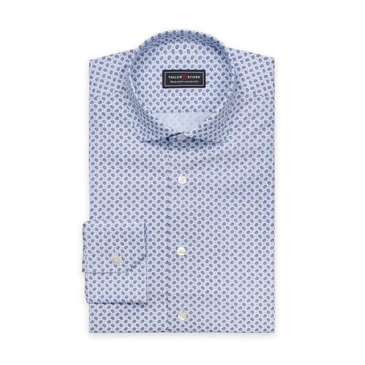 Ljusblå paisleymönstrad skjorta