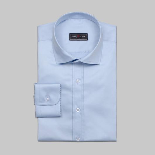 Koszula biznesowa z eleganckiej błękitnej satyny