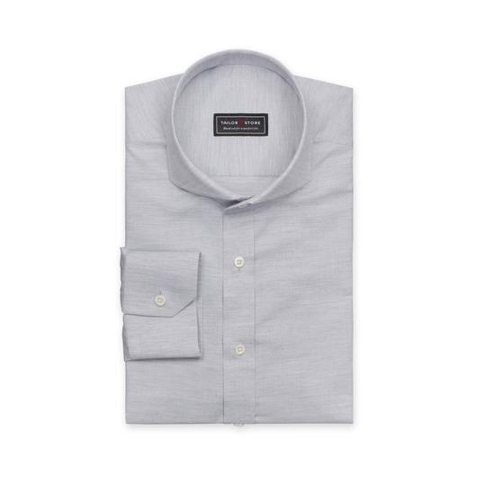 Light gray dobby weaved cotton shirt