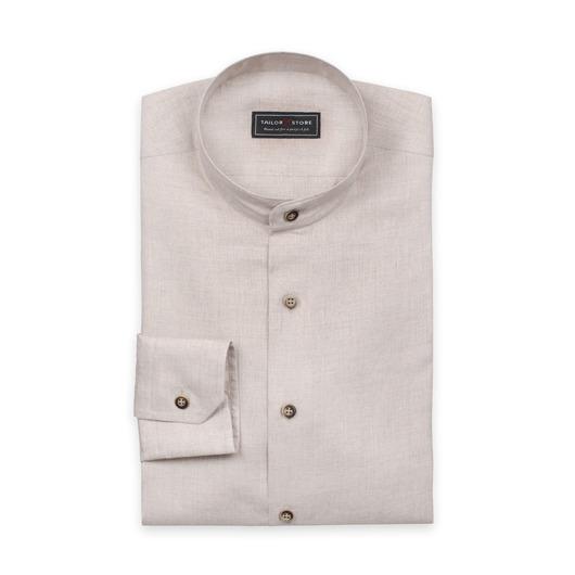 Sandfärgad linneskjorta