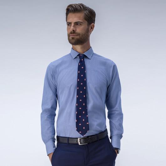 Klassiskt blå smalrandig skjorta