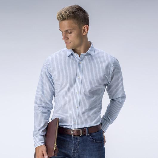Striped light blue dress shirt
