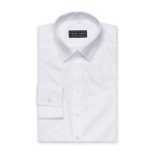 weißes Poplin-Hemd