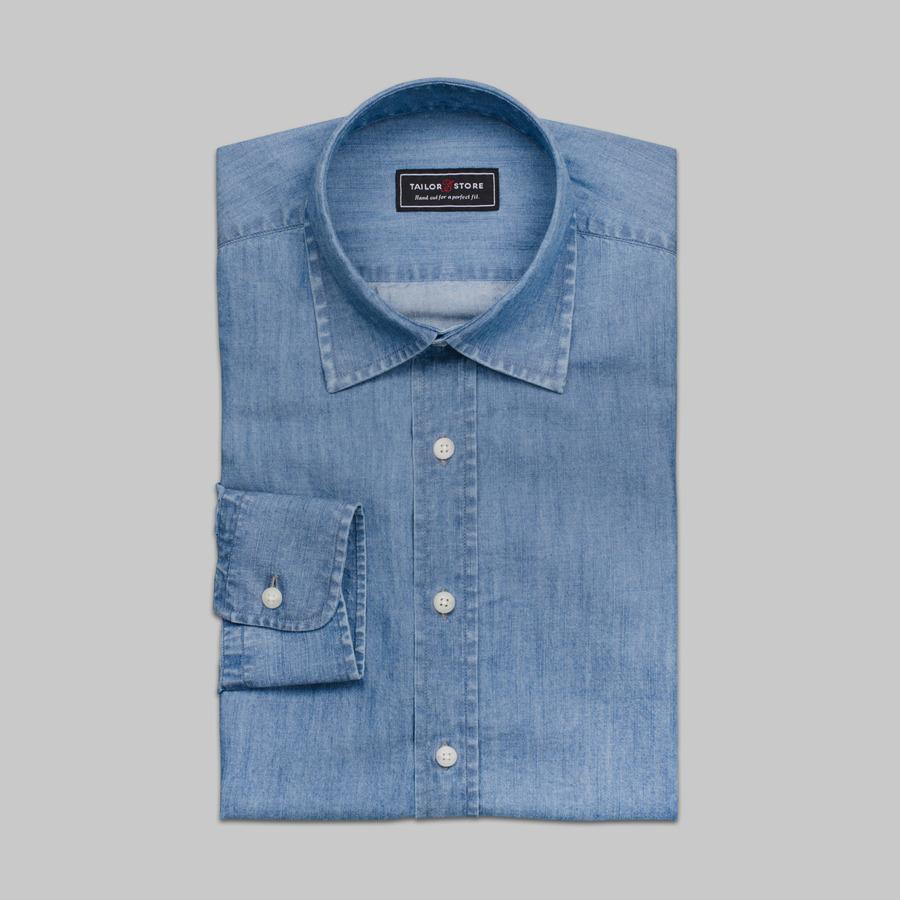 Denim Tencel Light Blue Denim Shirt